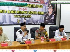 Ketua Umum MUI Kota Administrasi Jakarta Pusat, K.H. Robi Fadil Muhammad (foto Fakhri).