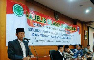 Wawali Buka Refleksi Akhir Tahun MUI Jakarta Pusat